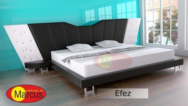łóżko efez lux skóra ekologiczna
