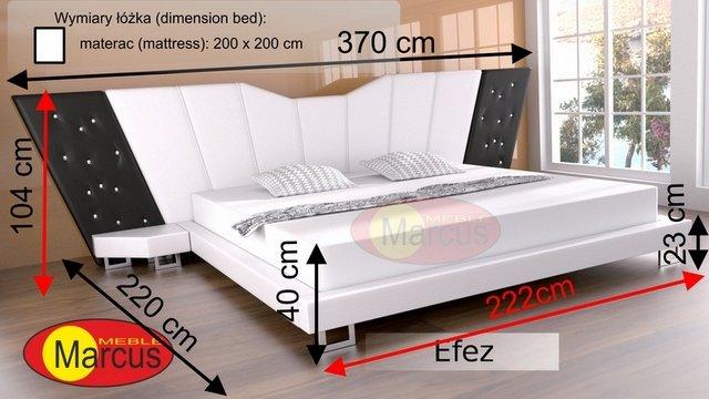 łóżko efez 200x200 cm