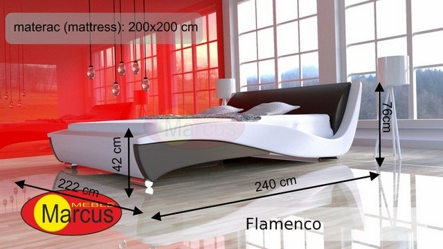 łóżko flamenco 200x200 cm