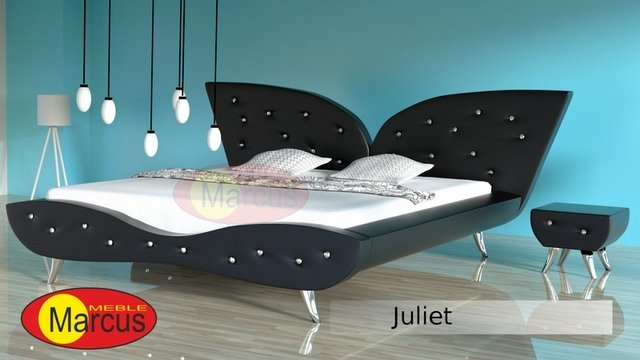 łóżko samba skóra ekologiczna