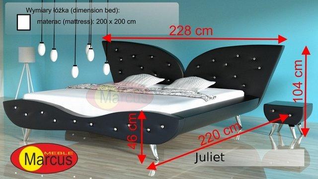 łóżko juliet 200x200 cm