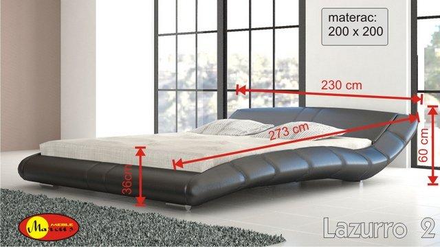 łóżko Lazurro 2 200x200 cm