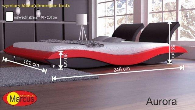 łóżko lozko aurora 140x200 cm