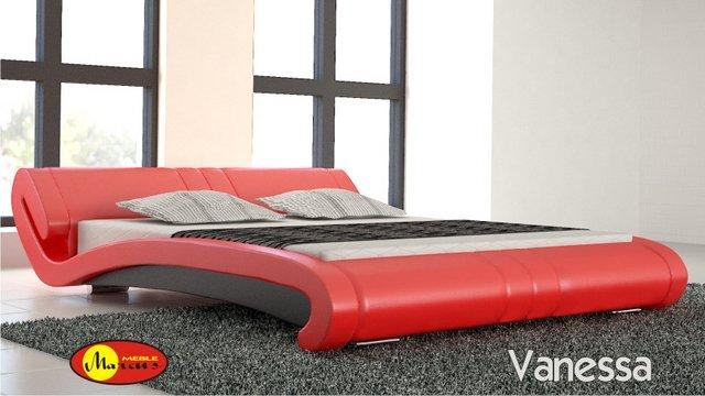 łóżko vanessa skóra eko czerwona