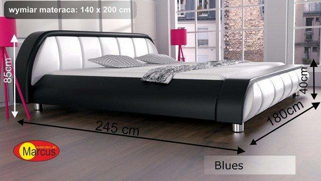 łóżko lozko blues 140x200 cm
