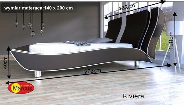 łóżko riviera tapicerowane 140x200 cm