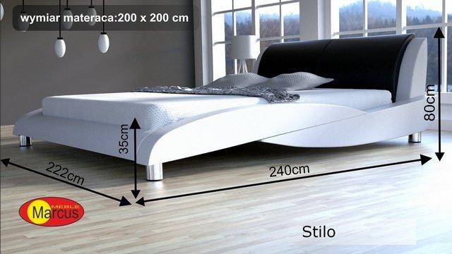 łóżko stilo 200x200 cm