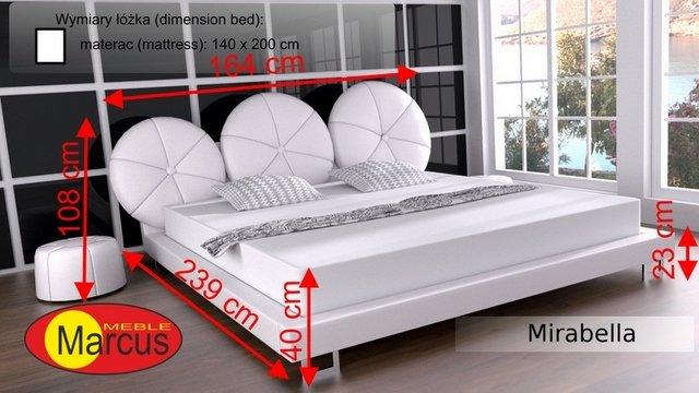łóżko lozko mirabella 140x200 cm