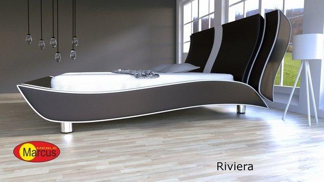 łóżko tapicerowane Riviera skóra ekologiczna