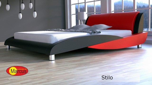 łóżko tapicerowane Stilo skóra ekologiczna