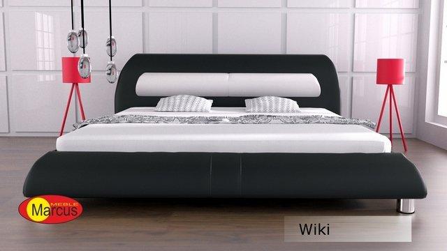 łóżko tapicerowane Wiki skóra ekologiczna