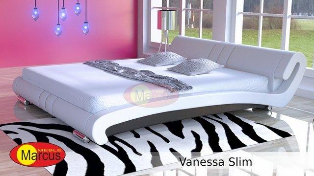 łóżko vanessa slim skóra eko czerwona