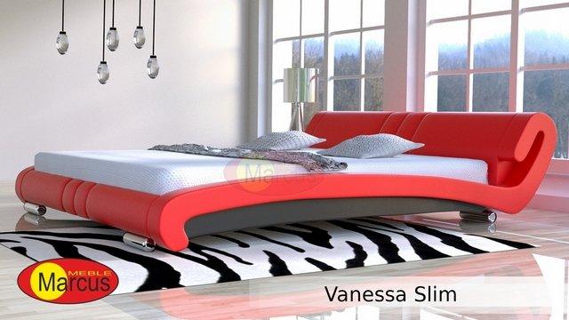 łóżko vanessa slimskóra eko czarna